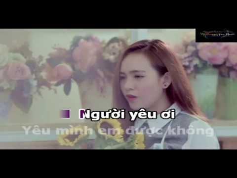 KaraOke Làm Người Yêu Em Nhé Baby   Official Music Video   Wendy Thảo demo