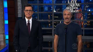 Jon Stewart Grants Trump's Request For Equal Time On Late-Night