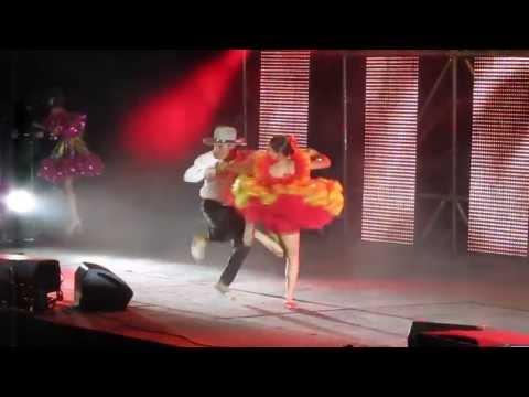 Pareja de baile en el 45° Torneo Internacional del Joropo