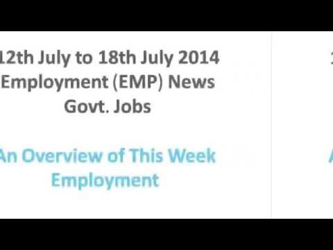Employment News 12th July to 18th July 2014 Job Highlights