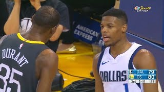 Kevin Durant Trash Talks Dennis Smith Jr After He Tries To Dunk on Him, Both Exchange Words!