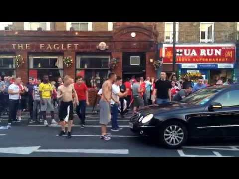 Arsenal fans celebrating their FA CUP win 2013/2014 part 2