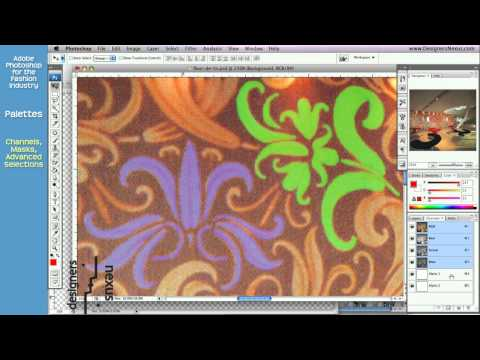 Photoshop Tutorial for Fashion Design (19/24) Alpha Channels, Masks, Advanced Selections