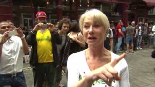 Helen Mirren Meets Those Loud Drummers
