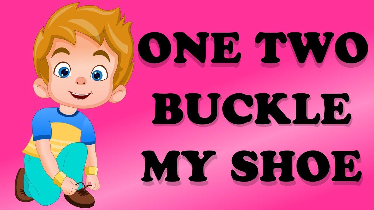One two buckle my shoe nursery rhyme youtube