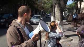 Protest la ambasada azeră pentru eliberarea lui Hilal Mamedov