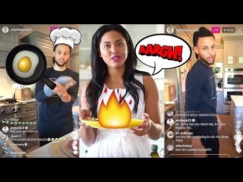 Steph Curry Turns Into CHEF CURRY On Instagram :: Stephen Curry COOKING With His Wife Ayesha Curry!