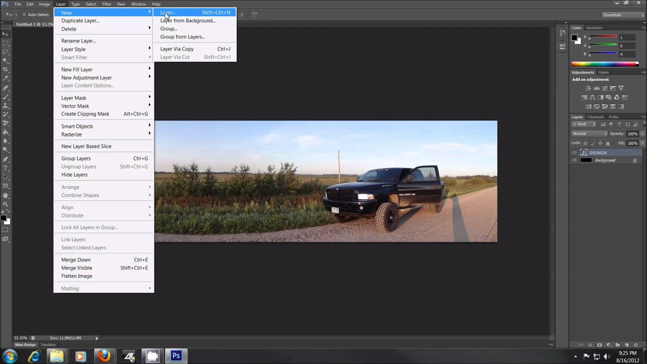 Adobe Photoshop CS6 Tutorial - How to blend or fade images - YouTube