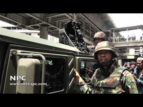 Thailand: Army troops deployed to prevent anti-coup protest at Terminal21/Asok BTS 01.06.2014
