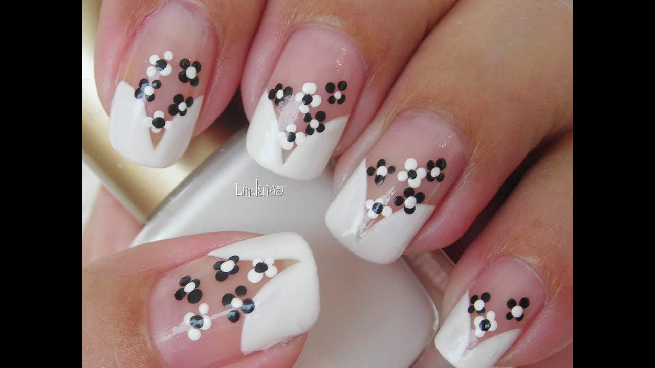 Nail art cute florecitas decoraci n de u as youtube - Decoracion de unas ...