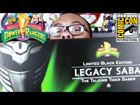 POWER RANGERS Comic-Con Exclusives Unboxing : Black Nerd