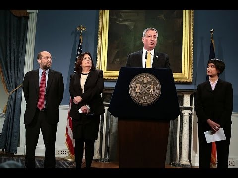 Mayor Bill de Blasio Hosts Press Conference to Make Announcement