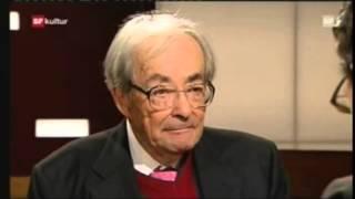 Philosoph George Steiner Sternstunde Philosophie Diskussion SF 04.12.2011
