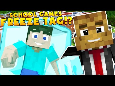 SCHOOL GAMES FREEZE TAG HOSPITAL MINECRAFT MODDED HIDE AND SEEK