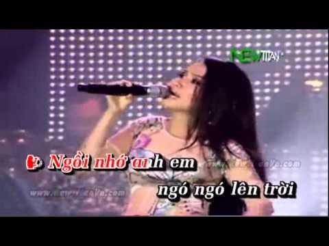 Karaoke Chim Trang Mo Coi hat voi Eliza Tran