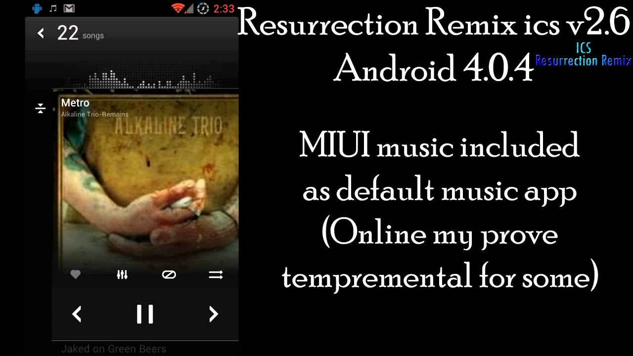 Samsung Galaxy S 2 Gt I9100 Resurrection Remix Ics V2 6