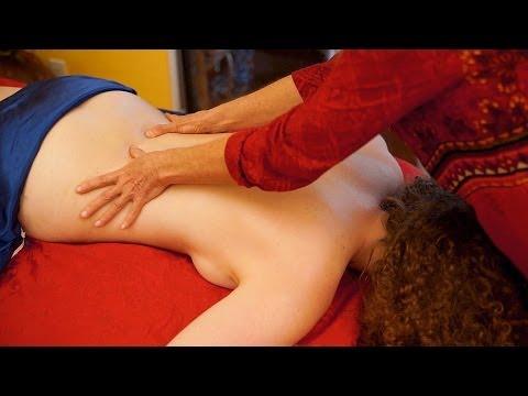Back Massage Swedish Technique For Women, How To Massage, ASMR Massage Athena Jezik