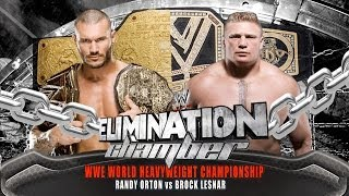 WWE Elimination Chamber 2014 Randy Orton Vs Brock Lesnar