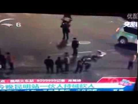 China Massive Knife Attack: 108 DEAD In massive stabbing Kunming Railway Station Knife-wielding men