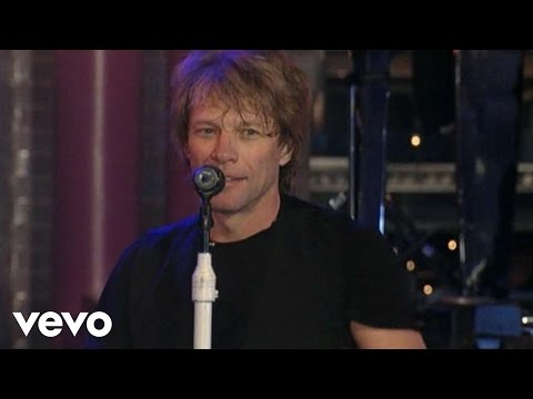 Bon Jovi - Livin' On A Prayer (Live on Letterman)