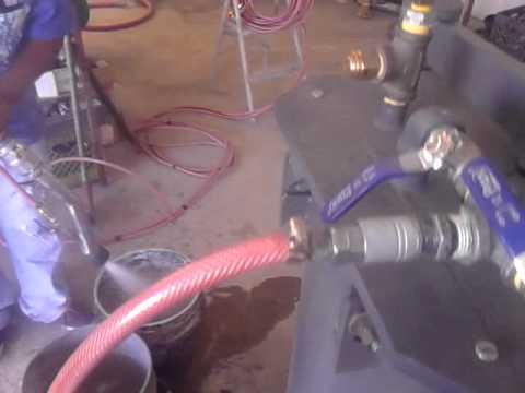 bomba de  aire para concreto  OZEM part 1