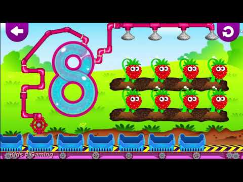 Funny Food & count , write the fruits! Educational Games for Toddlers 3 years ll Kids # Gaming