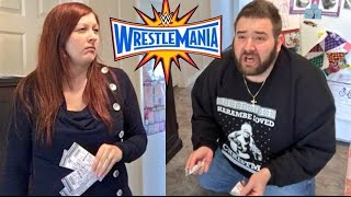 WIFE DESTROYS $4000.00 WWE WRESTLEMANIA 33 TICKETS! (PRANK)
