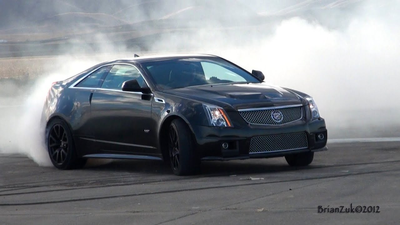 Cadillac Cts V Coupe Burnout Youtube