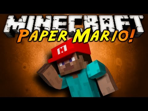 Minecraft Mod Showcase : PAPER MARIO!, PAPER MARIO IN MINECRAFT?! THIS MOD ADDS ITEMS FROM ONE OF MY ALL TIME FAVORITE GAMES! PAPER MARIO! Download the mod here and tell em Sky sent ya! http://www...
