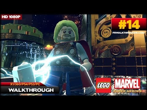 Lego Marvel Superheroes Walkthrough - Bifrosty Reception (2/2) (X1/360/PS4/PS3/PC) [1080p HD) Co-Op