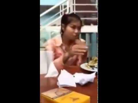 Cô gái hồn nhiên đi xin việc ăn hết 2 quả na- cubimart.vn