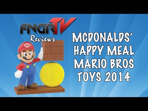 Super Mario Bros Happy Meal Toys McDonalds 2014 UK Review Ashens Style