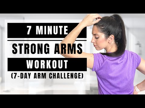 7 Minute Arm Workout   7-Day Strong Arms Challenge For Beginners