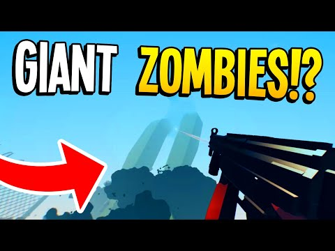 TABS w/ GIANT ZOMBIES!? Totally Accurate Battle Zombielator (TABZ) Funny Moments