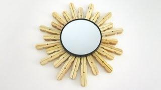 Episodio 627- Cómo decorar un espejo con pinzas para ropa