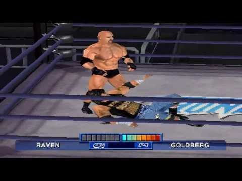 WCW Mayhem PS1 720P HD Playthrough - GOLDBERG VS RAVEN