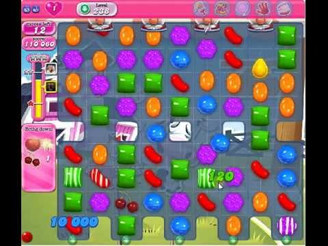 How to beat Candy Crush Saga Level 238 - 2 Stars - No Boosters - 159
