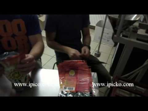 Semi-automatic DOY-PACK machine  for filling and packing  bulk products