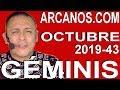 Video Horóscopo Semanal GÉMINIS  del 20 al 26 Octubre 2019 (Semana 2019-43) (Lectura del Tarot)
