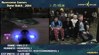 AGDQ 2014: Halo 2 Legendary Speedrun By MisterMonopoli (2