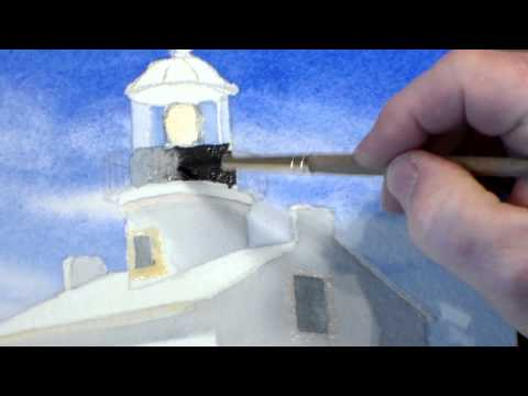 Painting a Lighthouse in Watercolor - Step 5