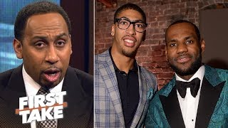 Stephen A.: If Anthony Davis joins LeBron James, Warriors no longer favorite | First Take | ESPN