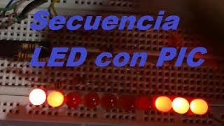Secuencia De LED Con Microcontrolador PIC 16F84A MPLAB