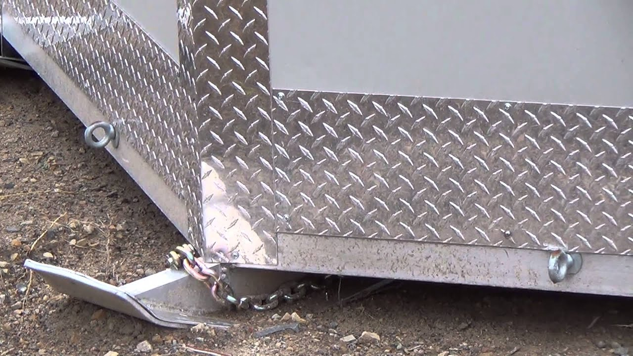 Beberg outdoors aluminum 8x12v skid house front views for Aluminum fish house