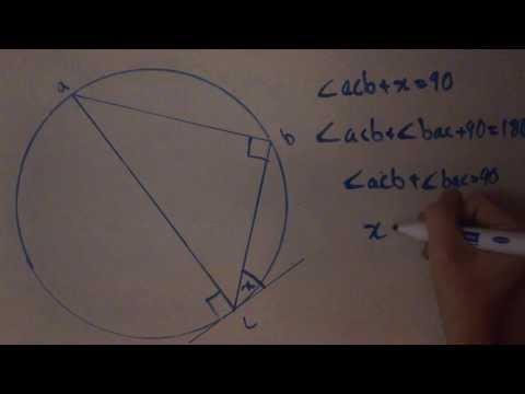 Circle Theorem 7 - Alternate Segment Theorem proof