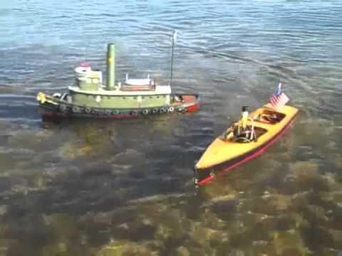 Three R/C Steamboats Underway on Peconic Bay