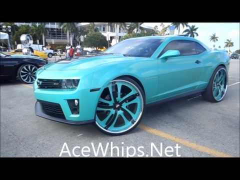 "AceWhips.NET- Outrageous 2012 Chevy Camaro ZL1 on 28"" Rasoio Forgiatos"