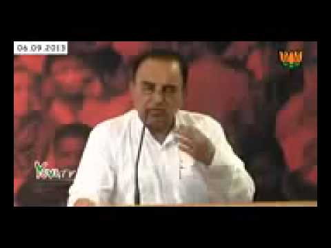 BJP Leader Subramanian Swamy Speech on Congress Leaders Black Money