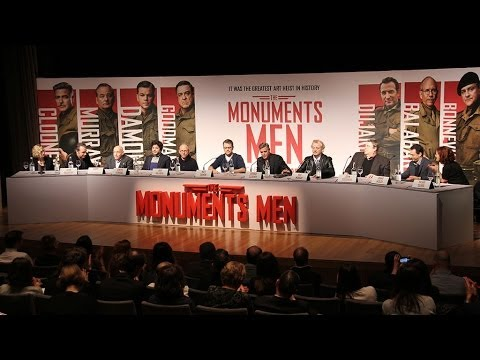 The Monuments Men Press Conference - George Clooney, Matt Damon, Bill Murray, John Goodman