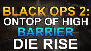 Black Ops 2 Zombies Glitches: Solo Glitch - Ontop of High Balcony - Invincible